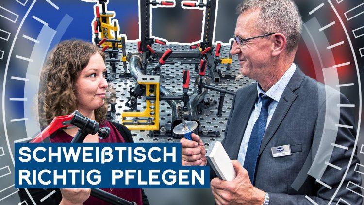 Demmeler Schweißtisch richtig pflegen | EMO Hannover 2019 | METAL WORKS-TV