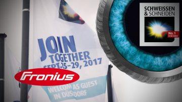 Fronius auf der SCHWEISSEN & SCHNEIDEN 2017