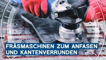 Mobile Kantenfräsmaschinen zum Anfasen und Kantenverrunden: GERIMA SMA-MINI   METAL WORKS-TV