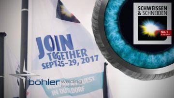 voestalpine Böhler Welding auf der SCHWEISSEN & SCHNEIDEN 2017