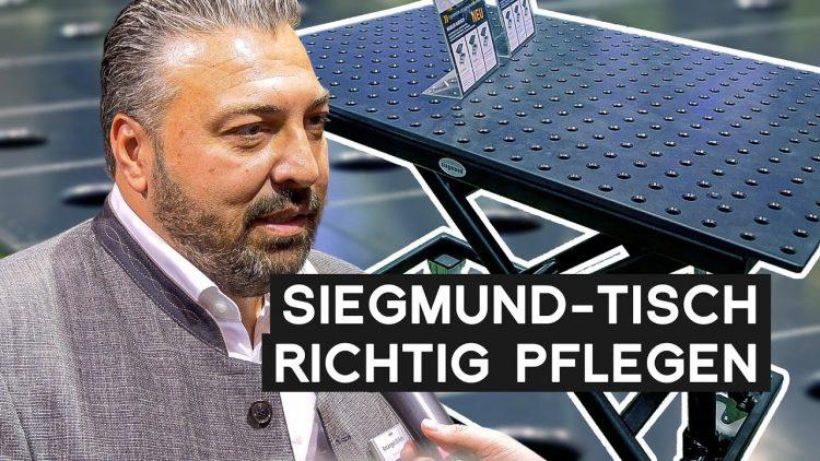 Siegmund Schweißtisch richtig pflegen   METAL WORKS TV